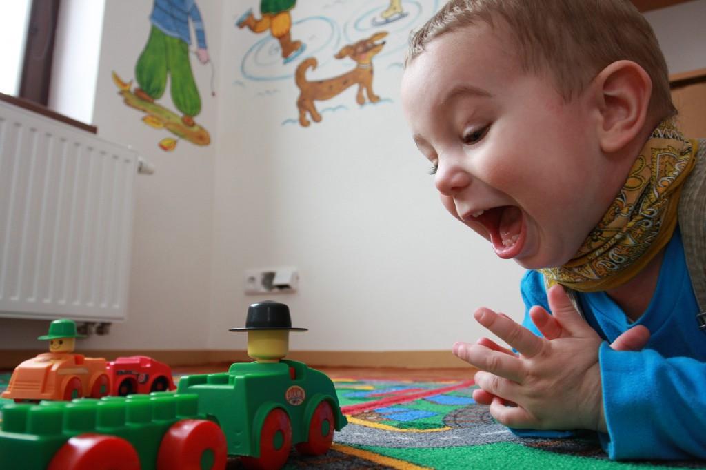 Pro maminky s nejmenšími dětmi máme místnost s hračkami