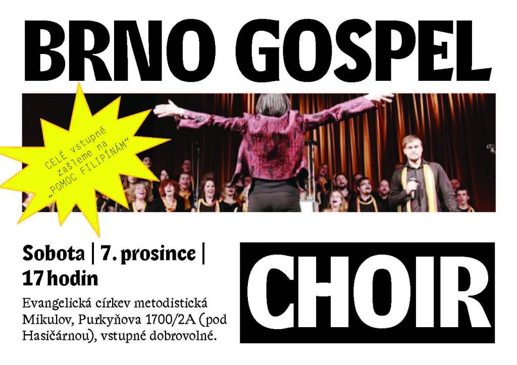 Pozvánka na koncert Brno Gospel Choir