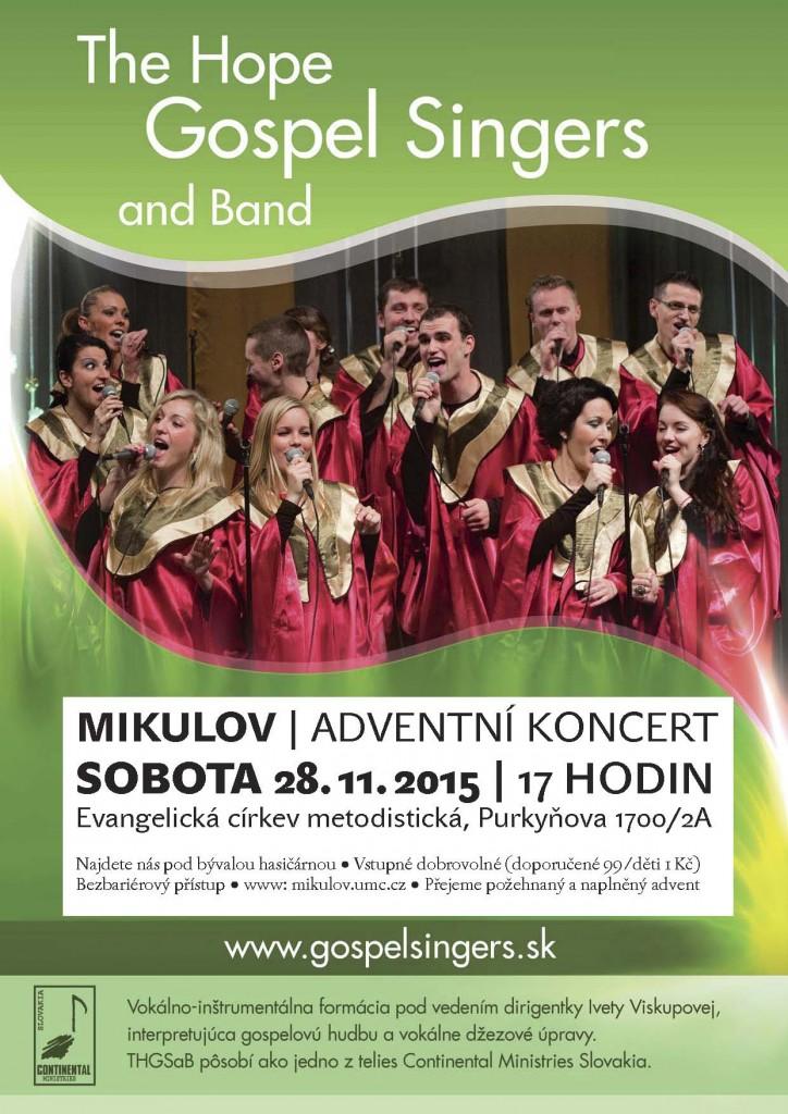 Plakát s pozvánkou na koncert