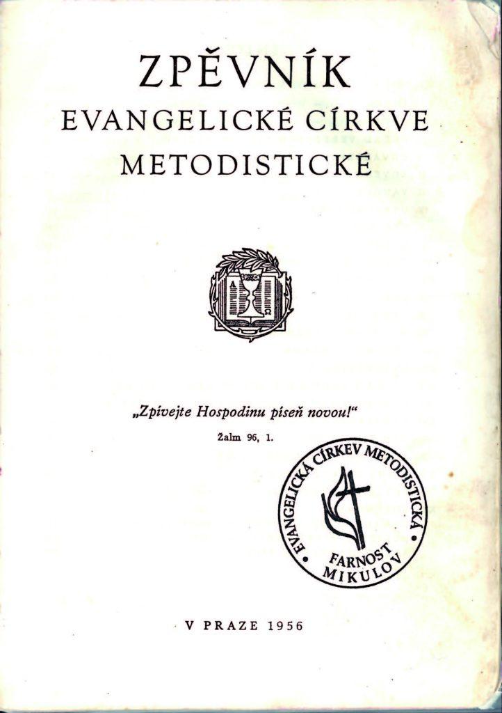Zpěvník Evangelické církve metodistické 1956