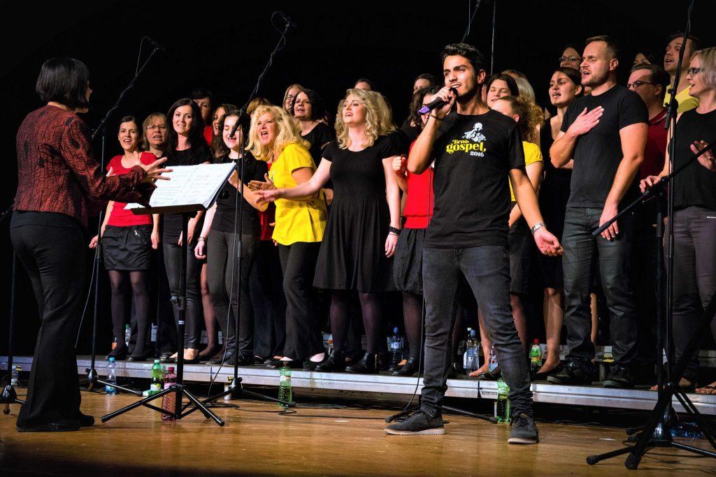 Fotografie pěveckého souboru Brno Gospel Choir z koncertu